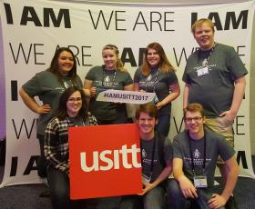 NMU students at USITT