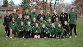NMU soccer team after NCAA game.
