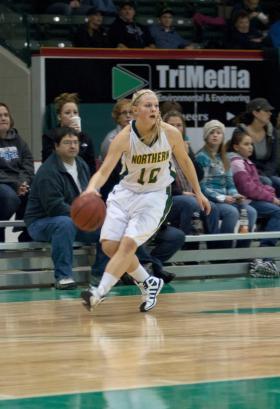 Freshman guard Lauren Gruber