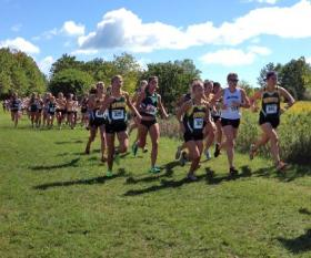 Pack of NMU runners at UW-Parkside.