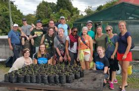 The NMU group at community garden project