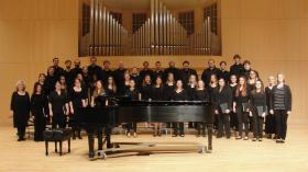 NMU Arts Chorale with Colwitz (far right)