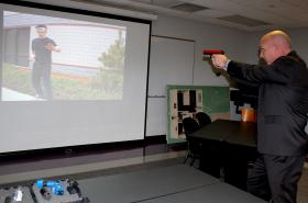 Charlie Mesloh during a simulation