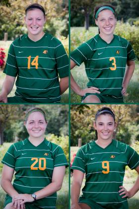 NMU's four seniors.