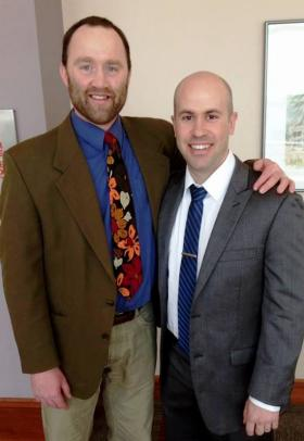 Lindsay invited former students to the awards ceremony, including David Hoffelder ('05 BS), an emergency care doctor.