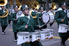 NMU Marching band in Homecoming Parade