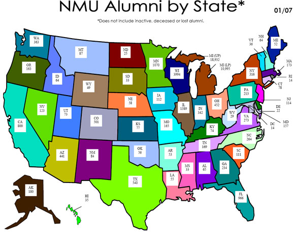NMU Alumni across the US