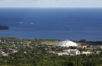 Aerial view of NMU campus