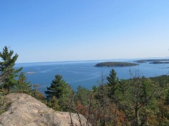 Lake Superior from the top of Sugarloaf Mountain