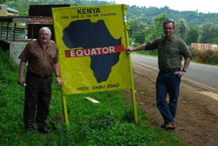 Hanson and Warchol at the equator