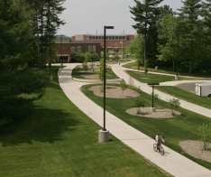 academic mall sidewalk