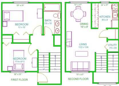 Lincoln Townhouse Floor Plans