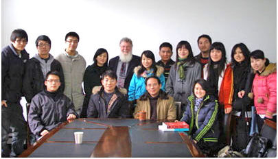 Dr Hutchison with faculty and students in China