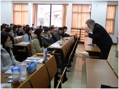 Dr. Hutchison lecturing in china