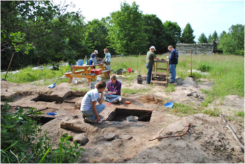 Archaeology Team Excavates the Burke Farm