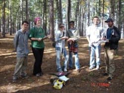 Student Fellows orienteering themselves in the wild