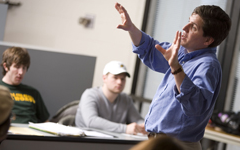 NMU Professor Teaching a Class of Students