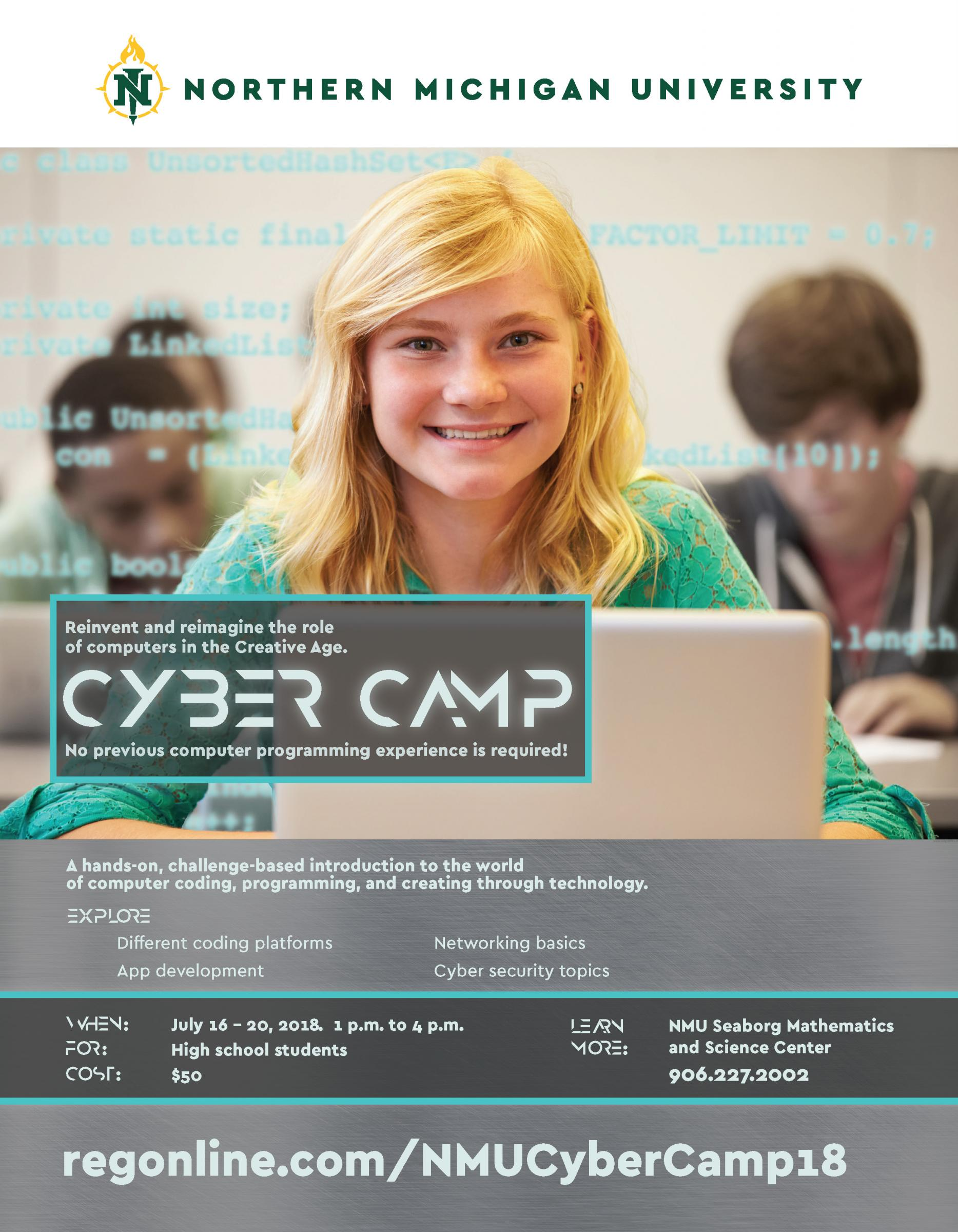 Flier for Cyber Camp