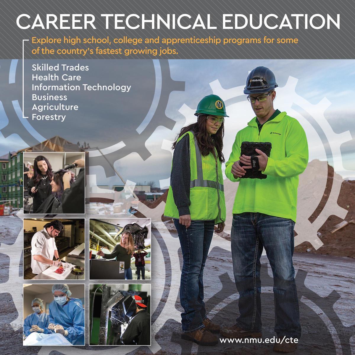 career technical education northern michigan university career tech education