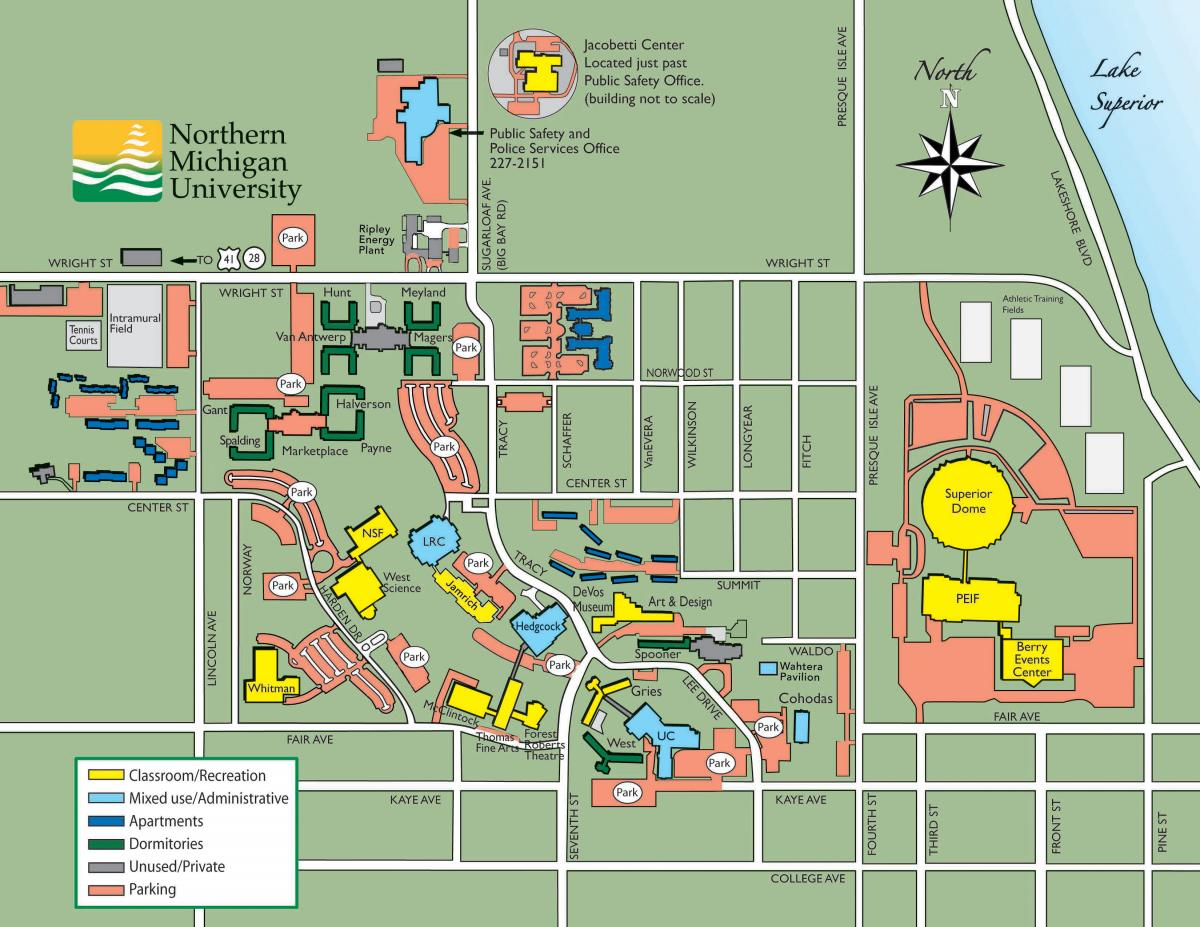 Campus Map Northern Michigan University