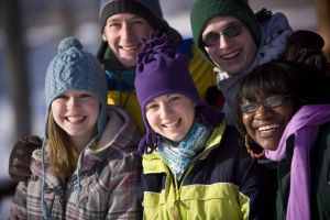 Faces of NMU students in winter