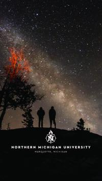 Phone background with kids looking up at the stars