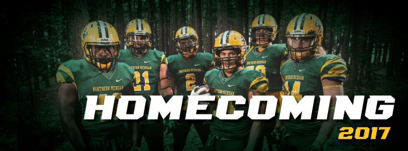 Homecoming Facebook cover photo with a picture of the football team