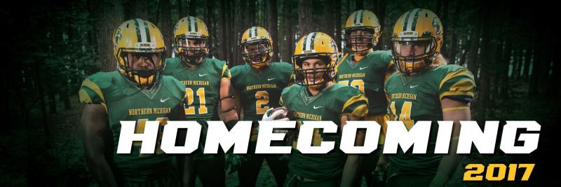 Homecoming Twitter cover photo showing the football team