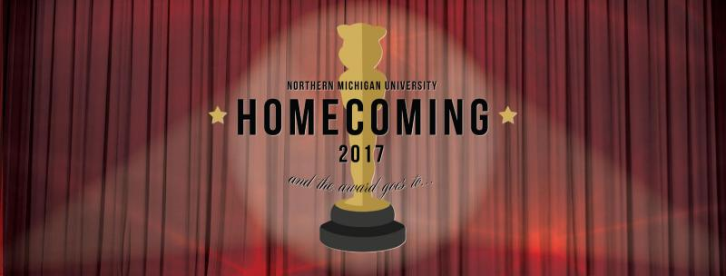 Homecoming Facebook cover photo featuring the homecoming 2017 icon
