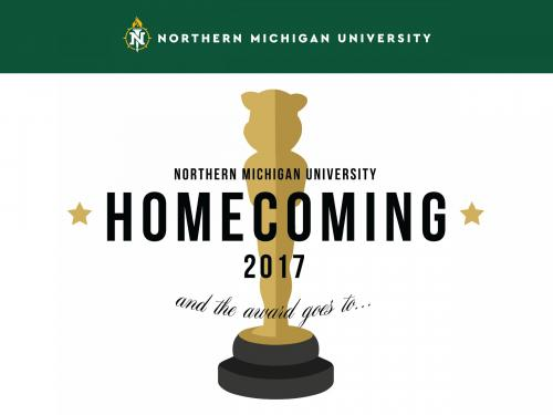 Homecoming Facebook post showing the homecoming logo over a white background