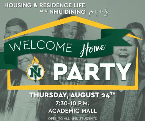 Welcome Home party graphic