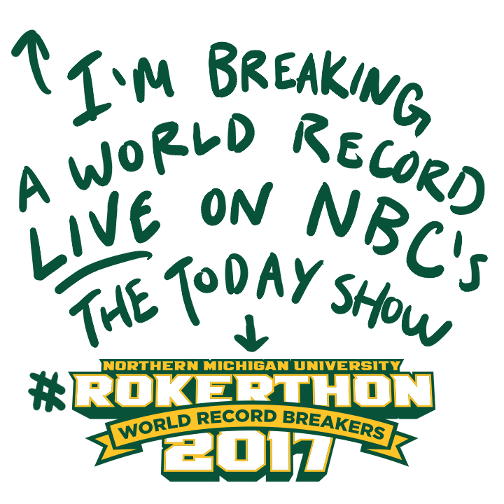 Rokerthon at NMU Instagram graphic